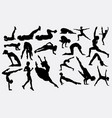pilates and dancer silhouette vector image vector image