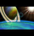 planet landscape space background vector image vector image