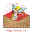 romantic design for valentines day vector image