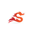 s initial dragon fire logo vector image