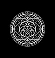 sacred geometric mascot logo vector image