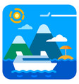 sea travel cruise vector image