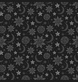 seamless background with stars and moon can vector image vector image