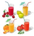 set juices vector image vector image