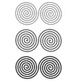 set of design monochrome spiral movement elements vector image