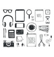 set of hand drawn office tools freelance vector image vector image