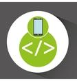 smartphone app development coding vector image