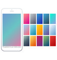 soft color gradient backgrounds set vector image