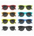 sunglasses icon set vector image vector image