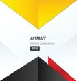 triangle design yellow black red vector image vector image