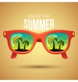 Tropical view in sunglasses vector image vector image