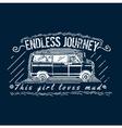 Truck T-shirt Print Design vector image