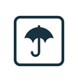 umbrella icon Rounded squares button vector image vector image