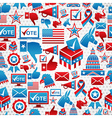 USA elections icons pattern vector image vector image