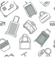 various types travel bags and luggage accessories vector image