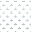 vintage air balloon pattern seamless vector image