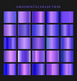 violet gradient collection for fashion design vector image vector image