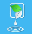Water drop and leaves vector image
