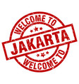 welcome to jakarta red stamp vector image vector image