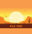 western american desert nature background vector image