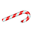 xmas candy stick icon realistic style vector image