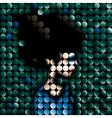 mosaic portrait vector image