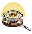 mushroom soup vector image