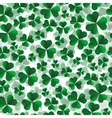 seamless pattern with green shamrock leaves vector image