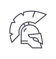 greece helmet line icon sign vector image