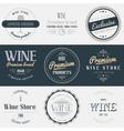 Wine drink labels set Brands design elements vector image