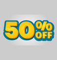 50 off discount banner special offer sale tag in vector image