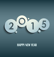 Abstract blue New Years wishes rounds template vector image vector image