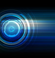 abstract technology dark blue background vector image
