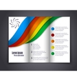 Abstract template brochure for design vector image