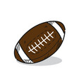 american football on a white vector image vector image