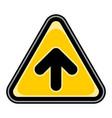 arrow upload sign triangular sticker vector image vector image