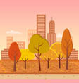 autumn park represented on vector image