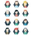Avatars icons polygon style vector image