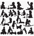 baby toy silhouettes vector image