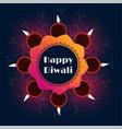 beautiful diwali diya decoration background design vector image vector image