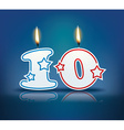 Birthday candle number 10 vector image vector image