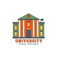 Building With Pillars University Logo vector image