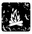 Campfire icon grunge style vector image vector image