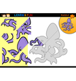 Cartoon octopus puzzle game vector image