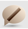 Centimeter ruler sign Brown gradient icon on vector image vector image