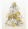 christmas background with shining snowflakes bow vector image
