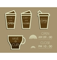 Coffee signs Open and Closed elements Dream vector image vector image