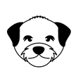 cute dog mascot head isolated icon vector image vector image