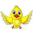 Cute Yellow bird cartoon posing vector image vector image