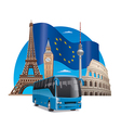european bus tour vector image vector image